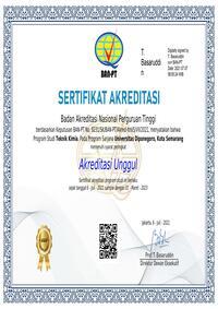 Sertifikat Akreditasi Unggul BAN-PT Program Sarjana